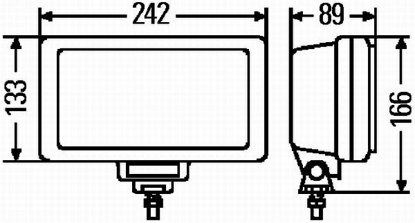 Reflektor przeciwmgłowy HELLA 1NE 006 300-111