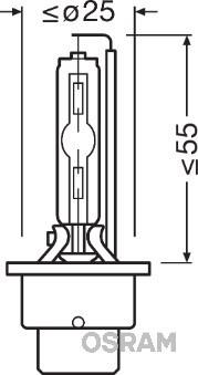 Żarówka, reflektor dalekosiężny OSRAM 66240